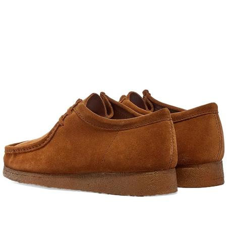 Clarks Wallabee shoes - Cola Suede
