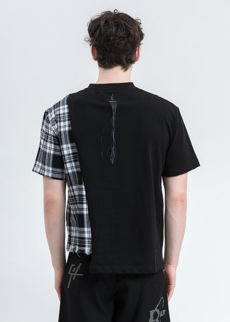 C2H4 My Own Private Planet Panelled T-Shirt - Black