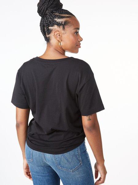 Nation LTD: Nina Vintage V-Neck Tee - black