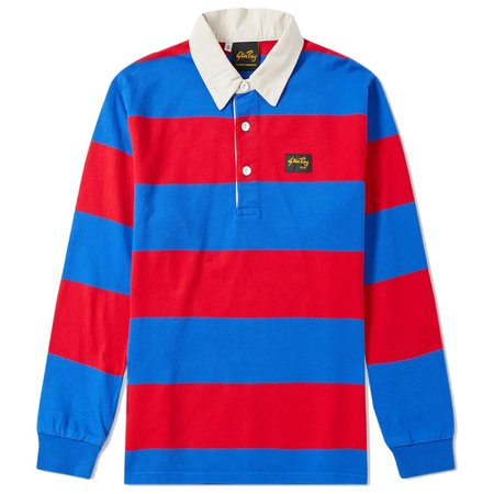 STAN RAY FOOTBALL RUGBY SHIRT - BLUE/RED