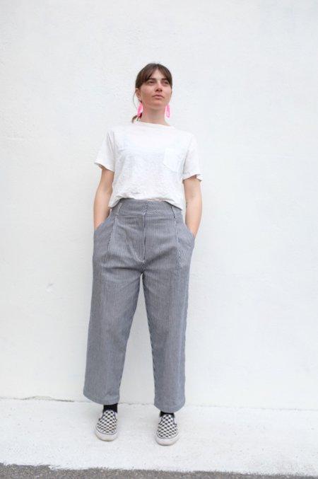 Girls of Dust Pocket T Hemp top - White