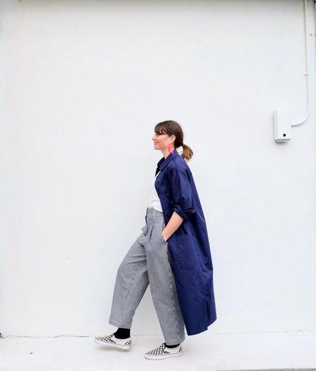 Girls of Dust Utility Dress Coat - Worker Blue