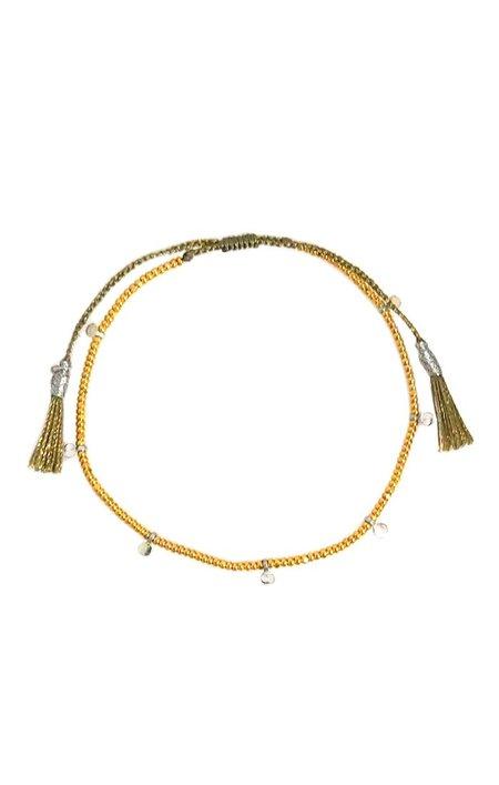 tai Silver Mini Disc Bracelet - Gold