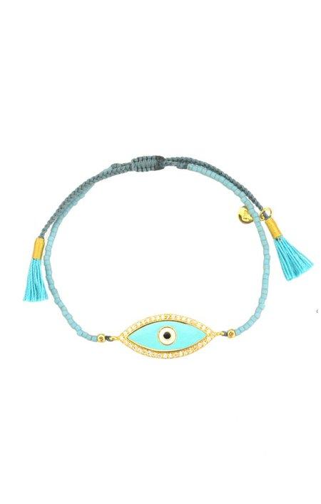 tai Enamel Evil Eye Bracelet - Turquoise