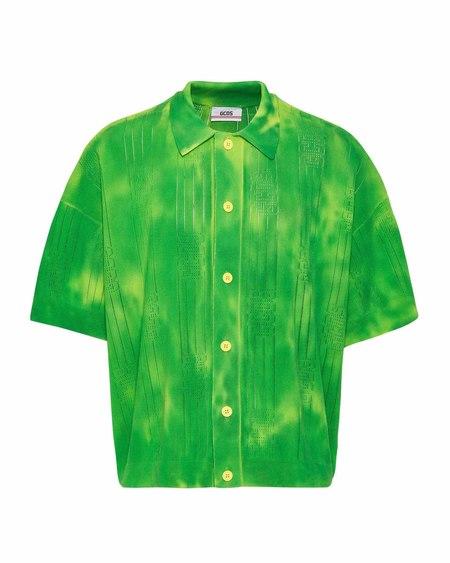 GCDS Polo - Green Tye Die