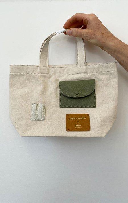 OAD Mini Tote bag - Natural/Mint/Brown