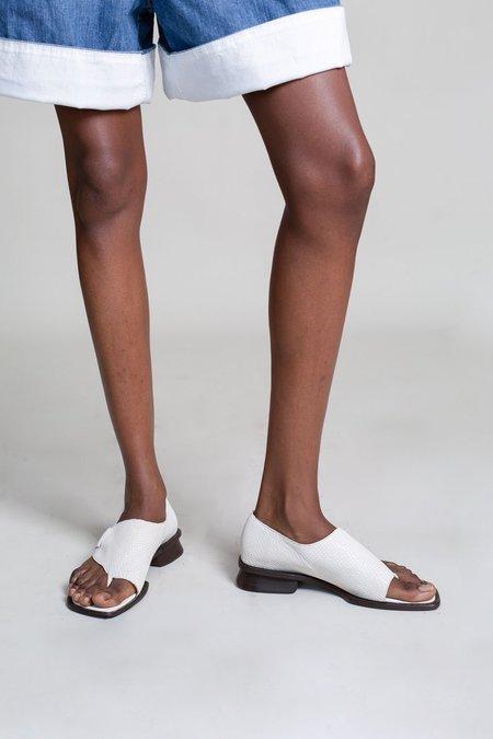 Maryam Nassir Zadeh Thompson Sandal - Creme Mini Croc