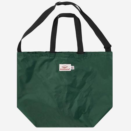 Battenwear Packable Tote - Forest Green/Black