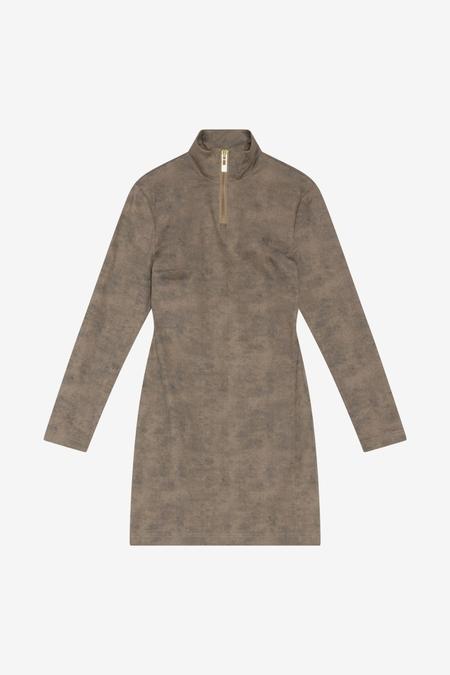 Han Kjøbenhavn Half Zip Dress - Washed Brown