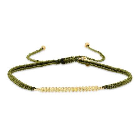 tai Braided Bar Bracelet - Olive