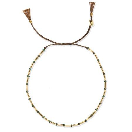 tai Bead Bracelet - Gold/Turquoise