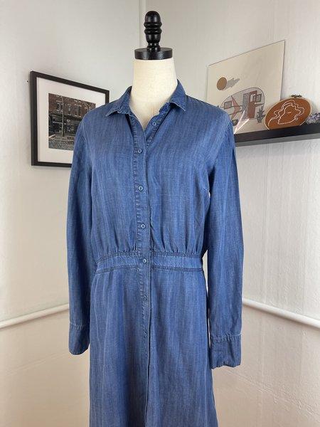 Pre-Loved JUST Female Denim Button Front Dress - Blue