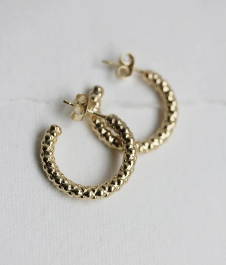 Little Gold Basil Hoops - Gold