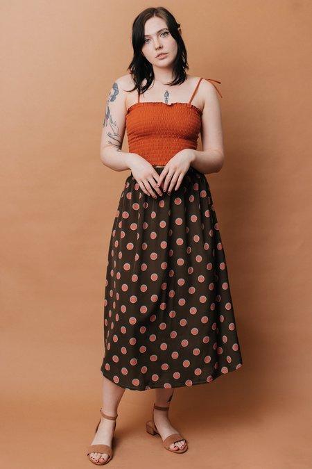 Altar Houseline Eva Midi Skirt - Watermelon Dot