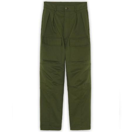 Maison Kitsuné Patched Pockets 2 Pleats Pants - Khaki