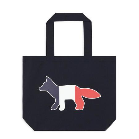 Maison Kitsuné Tricolor Fox Tote Bag - Navy