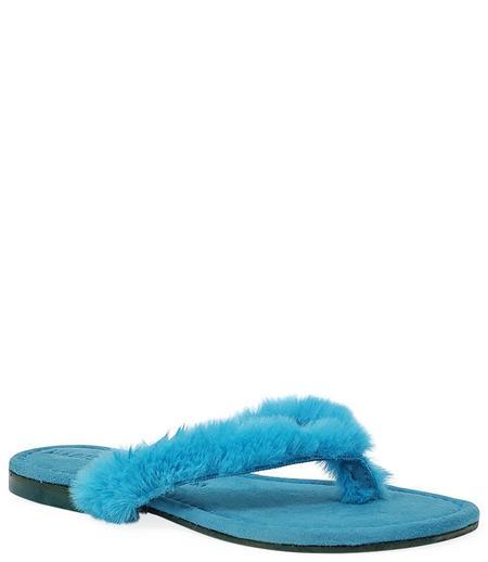 Madison Maison by Paola Martini Ivanka Thong Sandal - Turquoise