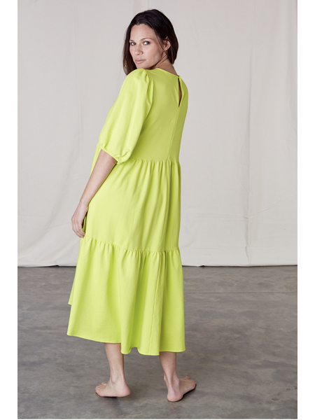 Ali Golden Knit Party Dress