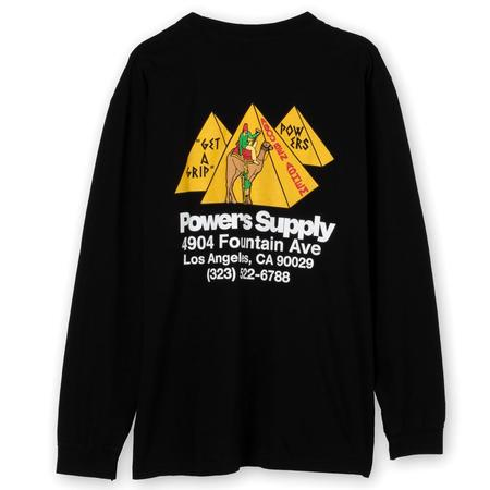 Powers Supply Get a Grip Shop Long Sleeve T-shirt - Black