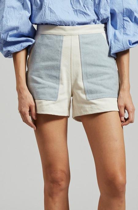 Rachel Comey Handy Short - Natural/Faded Indigo