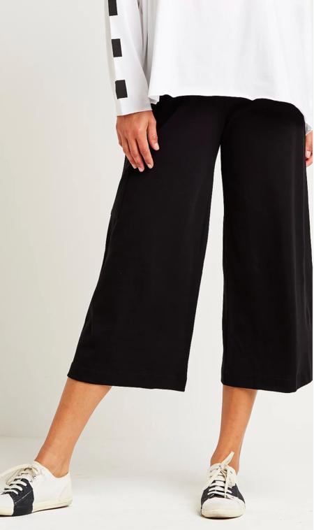Planet Pima Cotton Crop Pant - Black