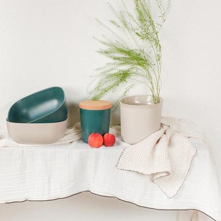 Autumn Paris Nappe Muslin Tablecloth - Milk White