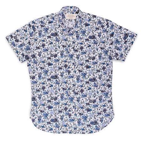 Kovalum Lachlan S/S Shirt - Blue Floral