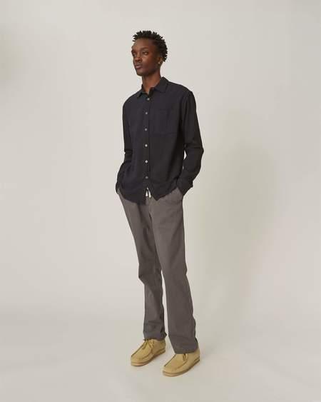 Corridor Super Slub Cotton Long Sleeve Shirt - Black