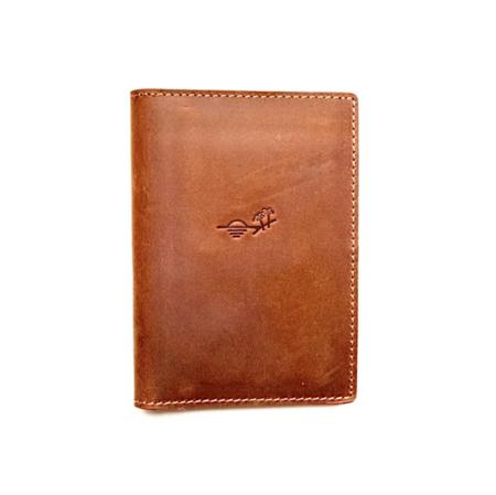 Flint Leather Co. Passport Travel Wallet - Light Brown