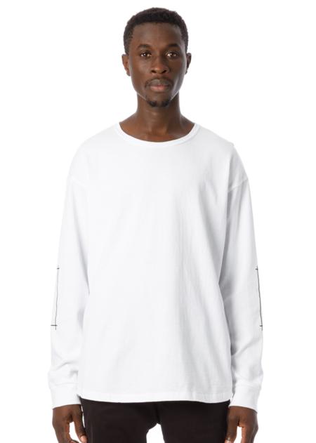 Sandinista MFG Tape Print L/S T-Shirt - White