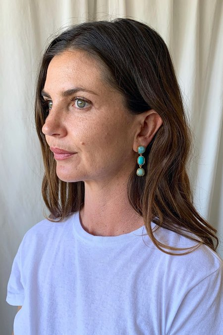 Lizzie Fortunato Current Earrings - Blue