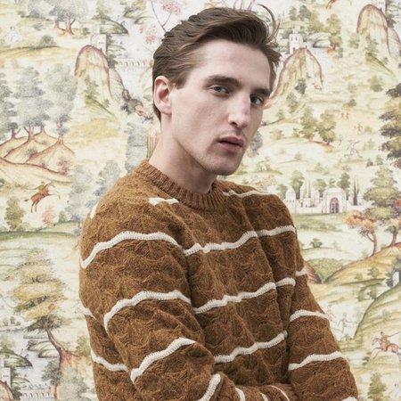President's Wave Soft Shetland Crew sweater - Rusty