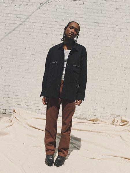 PHIPPS Cotton Utility Jacket -  Washed Black