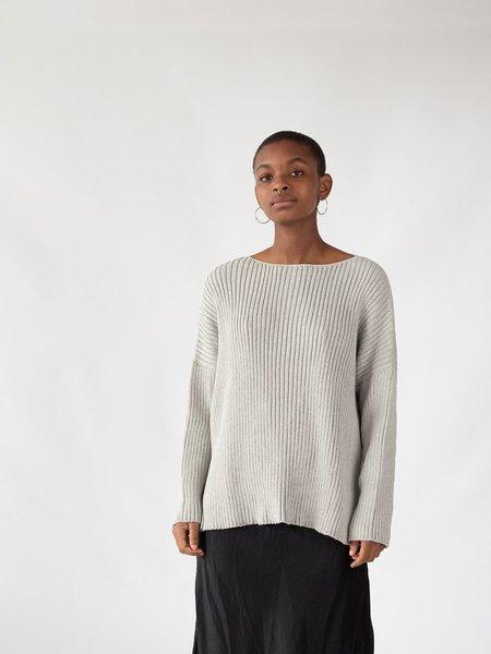 Erica Tanov ribbed cotton pullover - light grey