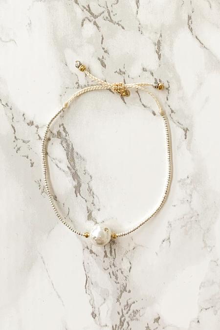 tai Pearl Bead Bracelet - Silver