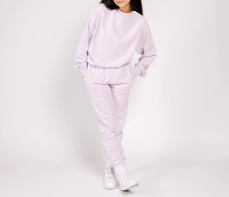 Shady Lady Butter Fleece Crew sweater - Lilac