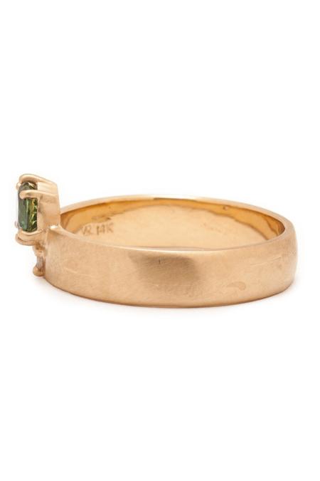 Valley Rose Boreal Sapphire Cigar Band ring - Gold