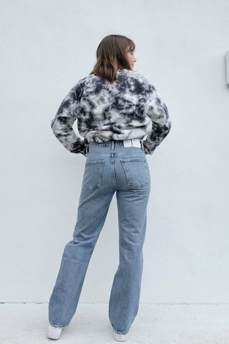 AGOLDE Lana Mid Rise Vintage Straight denim - Backdrop