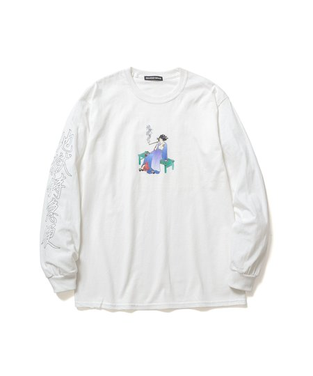 Flagstuff Delivery Health 地獄特急便 L/S T-Shirt - White