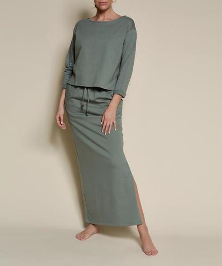 Fabina LA Hemp Two-piece Set - Sage Green