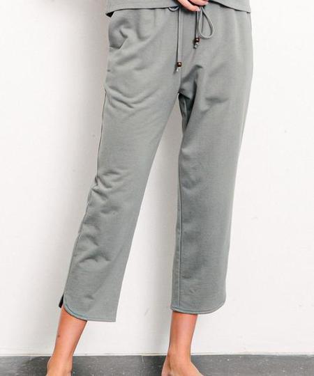 Fabina LA Organic Hemp Cropped Jogger - Grey