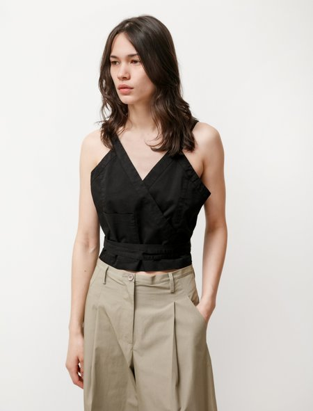 Hache Apron Blouse - Black