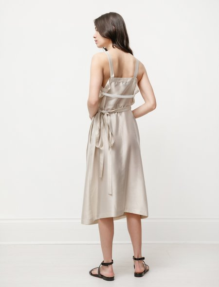 Hache Apron Dress - Champagne