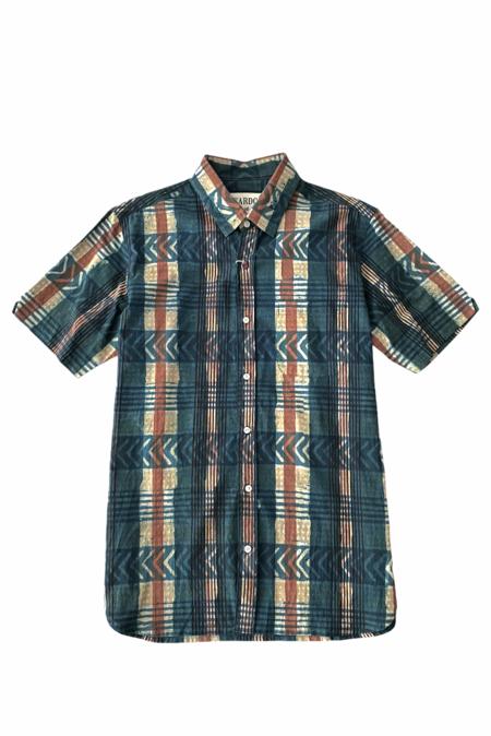 Kardo Sai SS Shirt - Indigo Plaid