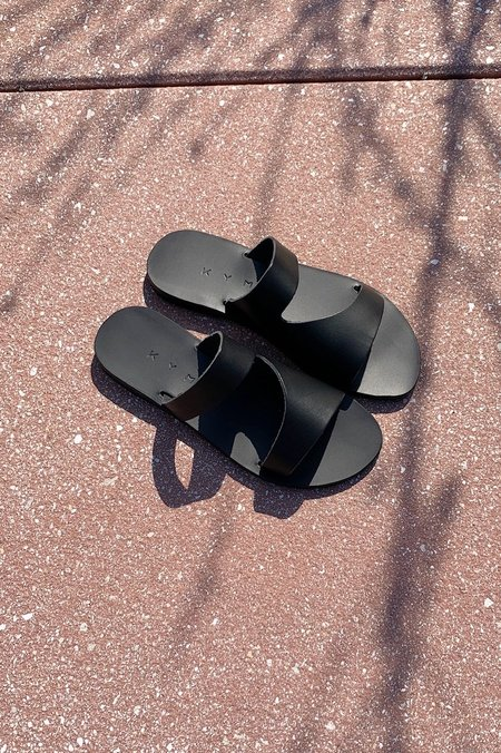 KYMA Lesvos Cutout Slip On Sandals - Black