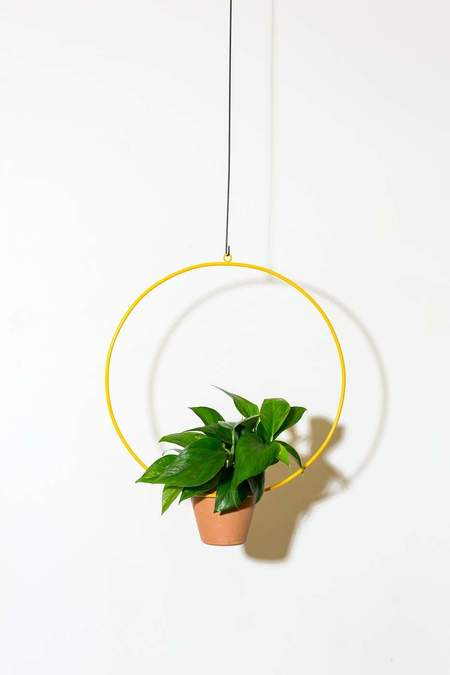 "NewMade LA 18"" Hanging Circle Planter - Yellow"