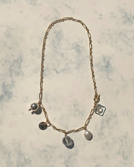 HighLow Mixed Media Charm Necklace