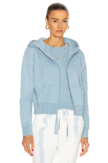 Nili Lotan Callie Zip Up Hoodie sweater - slate blue