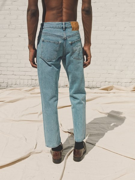 Martine Rose Cropped Maynard Jeans - Blue Denim