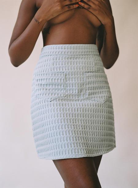 Aniela Parys Miriam Waffle skirt - white